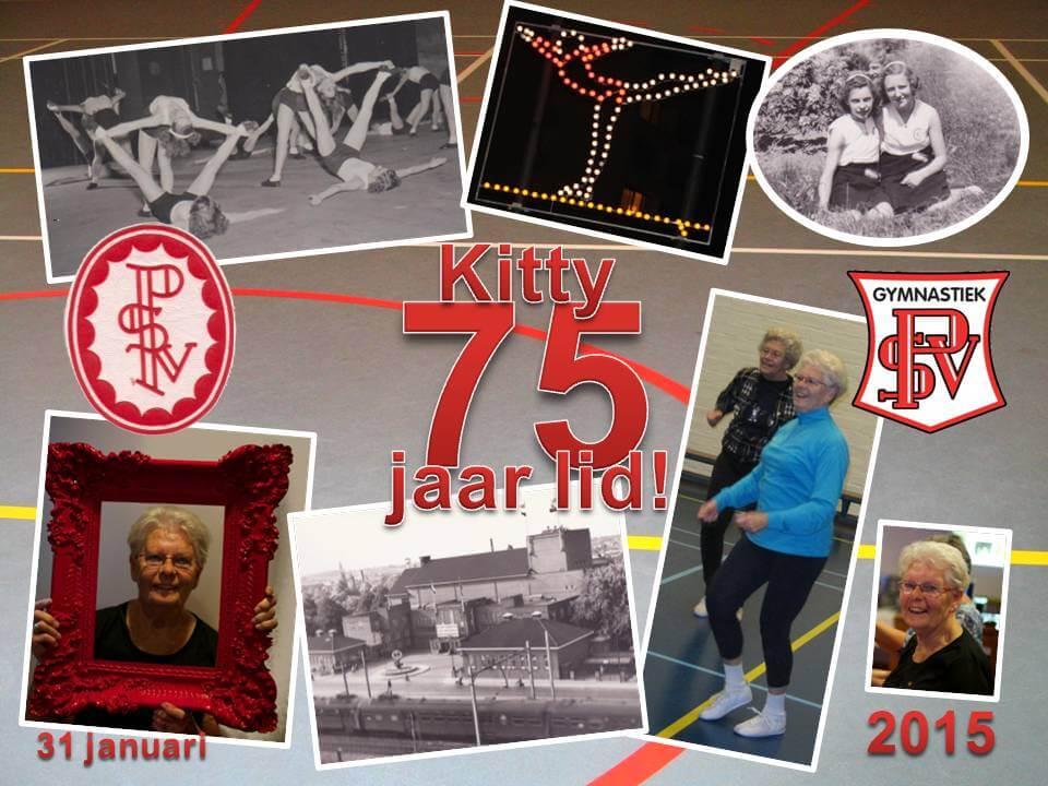 75 jaar lid Kitty van de Nieuwenhuizen-de Jonge