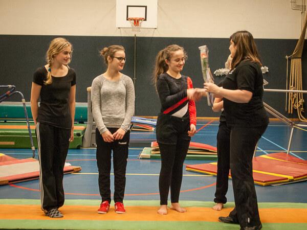 PSV Gymnastiek diplomauitreiking assistent niveau 1 2015